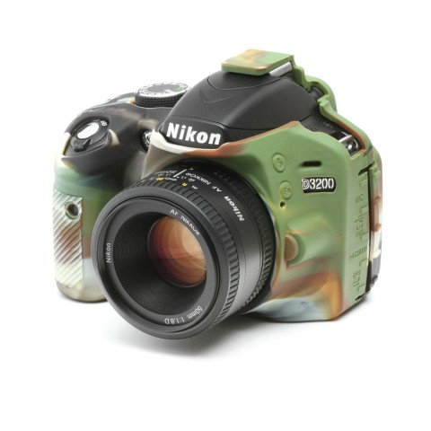Carcasa easyCover Nikon D3200, Camuflaje + Mica