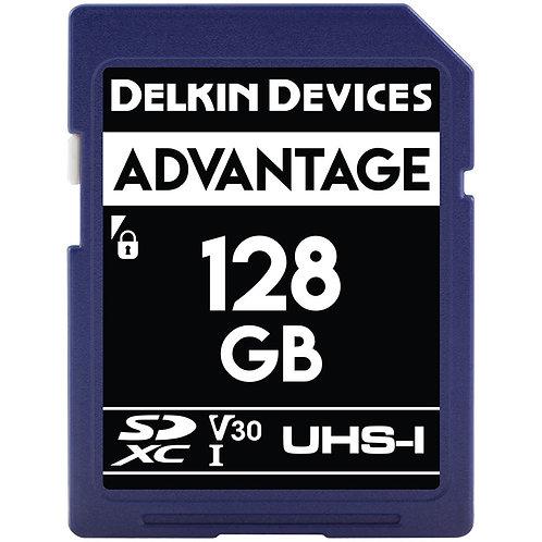 Memoria SD Delkin Devices 128 GB ADVANTAGE UHS-I SDXC, V30, U3, Class 10, 90MB/s