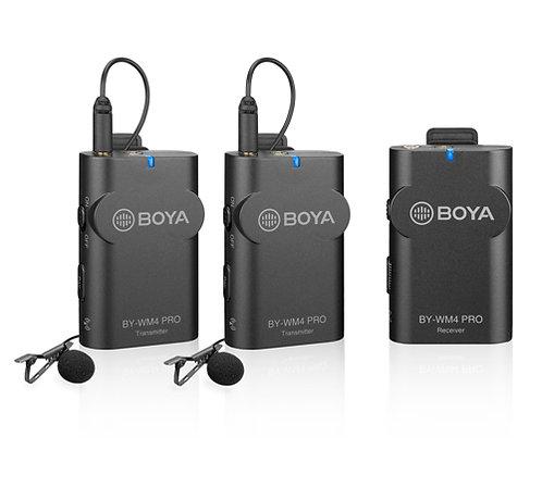 Micrófonos inalámbricos Boya BY-WM4 PRO K2 para celular y DSLR