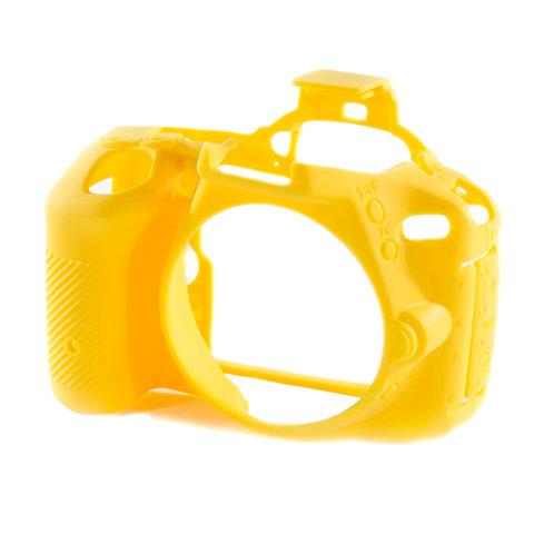 Carcasa easyCover Nikon D5500, D5600, Amarillo + Mica