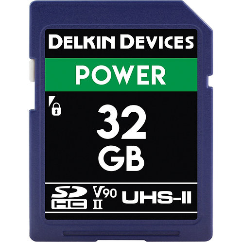 Memoria SD Delkin Devices 32 GB POWER UHS-II SDHC, V90, U3, Class 10, 300 MB/s