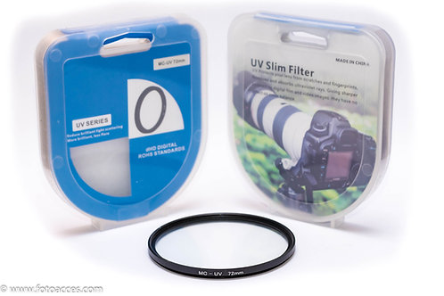 Filtro Ultravioleta Multicapa MC UV de 72mm.