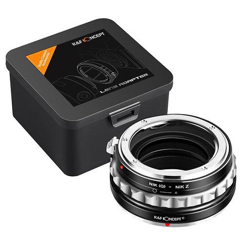 Adaptador manual K&F NIK(G)-NIK Z, lentes Nikon F (G/F/AI/AIS/D en Nikon Z