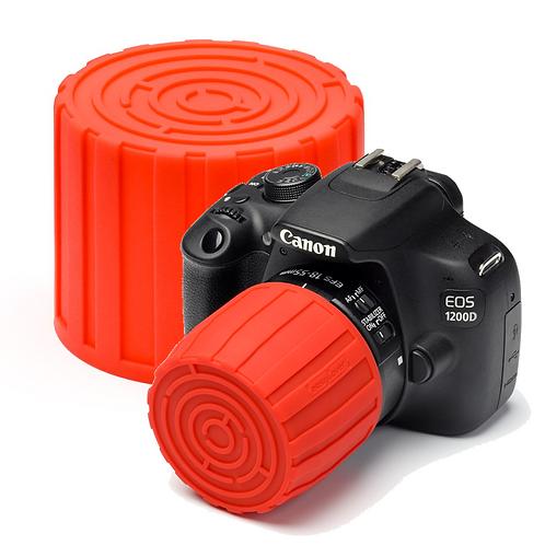 Tapa easyCover Lens Maze ROJO, para diámetros de 52 a 77mm