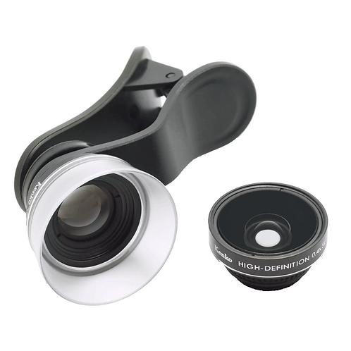 Kit de lentes Kenko Real Super, gran angular 165° y 6x macro, para celulares