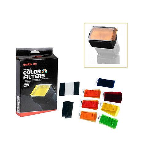 Kit de filtros para flash / speedlight Godox CF-07