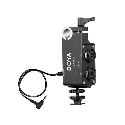 Mezclador de audio Boya BY-MA2 de dos canales XLR / 6.35 mm