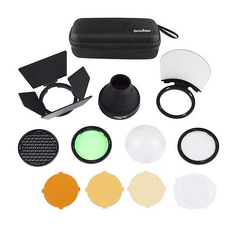Kit de accesorios Godox AK-R1, para flashes de cabeza redonda tipo V1