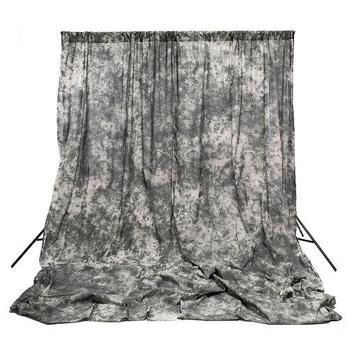 Muselina de algodón texturizada Savage Gray Skies, 3.05 x 3.66 m.