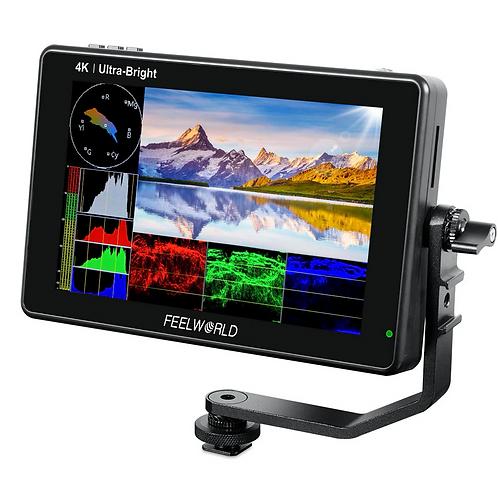 """Monitor FeelWorld LUT7S, 7"""", FULL HD, 4K HDMI y SDI, Táctil, ultrabrillante"""