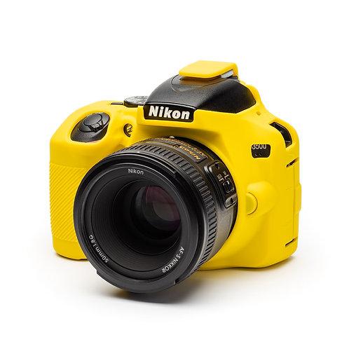 Carcasa easyCover Nikon D3500, Amarillo + Mica