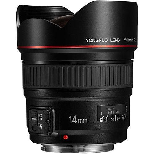 Lente Yongnuo YN14mm F2.8C para Canon