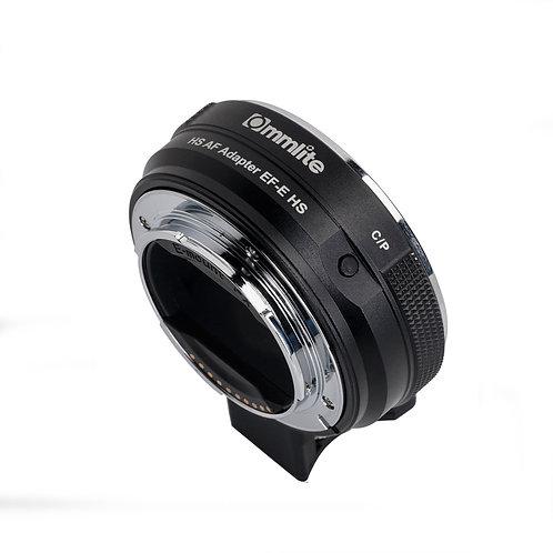 Adaptador automático Commlite CM-EF E HS, lentes Canon EF en cámaras Sony E