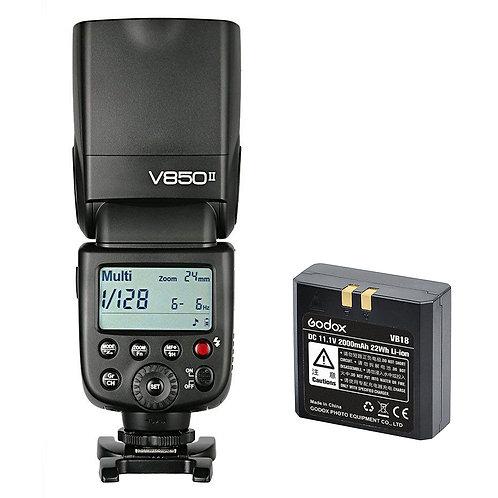 Flash Godox Ving V850II con HSS, Sistema X, batería de Litio x Canon Nikon Sony