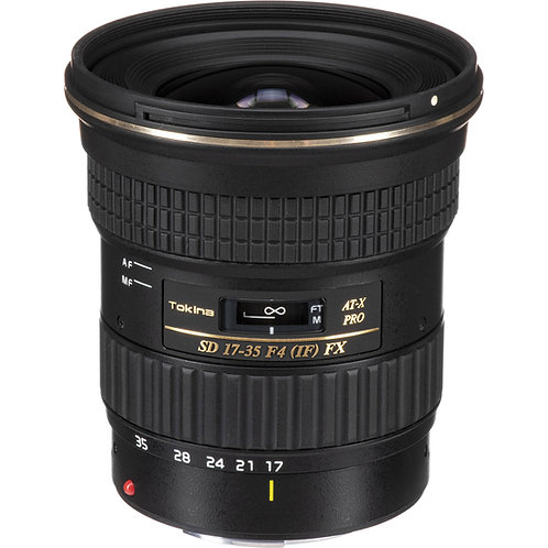 Lente Tokina AT-X 17-35 F4 PRO FX, Full Frame, para Canon EF