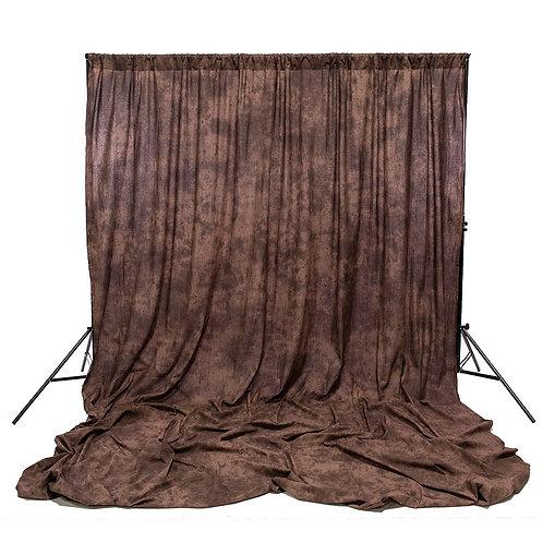 Muselina de algodón texturizada Savage Autumn Brown, 3.05 x 3.66 m.