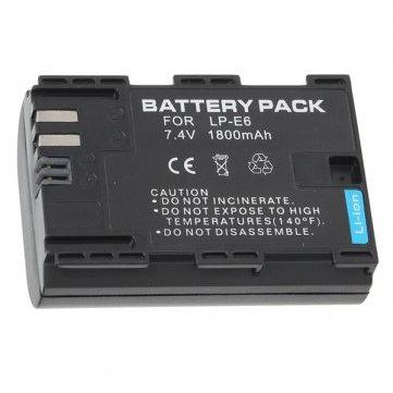 Bateria generica LP-E6 1800 mAh para Canon