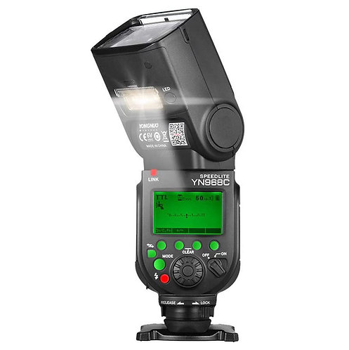 Flash Yongnuo YN968C para Canon, con TTL, HSS y luces LED para video