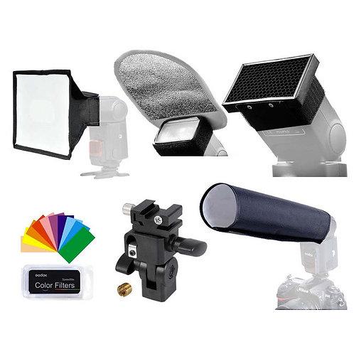 Kit de accesorios universal para flashes