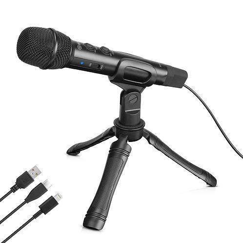 Microfono de mano Boya BY-HM2 para Android, Iphone, laptops