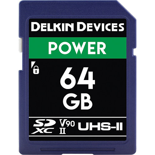 Memoria SD Delkin Devices 64 GB POWER UHS-II SDHC, V90, U3, Class 10, 300 MB/s