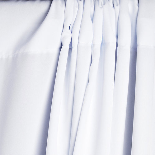 Poliéster antiarrugas Savage White (Blanco), 1.52 x 2.74 m.