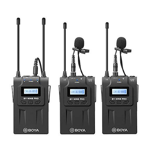 Kit Microfonos Inalambricos Profesionales Boya BY-WM8 PRO K2 - 2 Transmisores