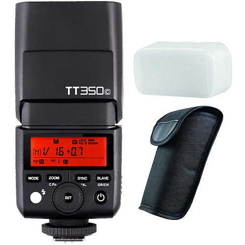 Flash Thinklite Godox TT350C con TTL, HSS, Difusor, Sistema X, para Canon