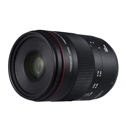 Lente Yongnuo YN60mm F2 MF Macro para Canon