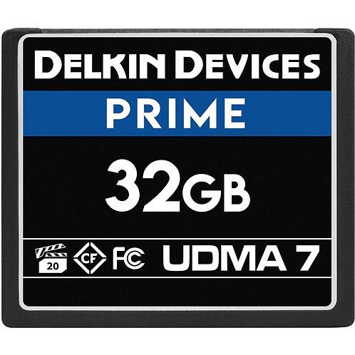 Memoria CompactFlash Delkin Devices 32 GB PRIME UDMA 7,  VPG 20, 1050x, 160 MB/s