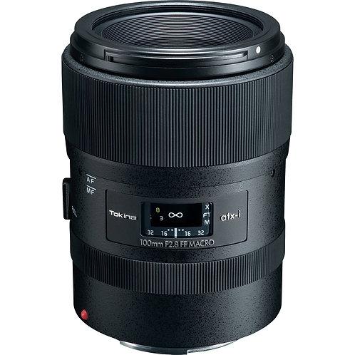 Lente Tokina ATX-i 100mm F2.8 FF MACRO, Full Frame, para Canon EF