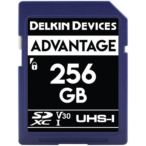 Memoria SD Delkin Devices 256 GB ADVANTAGE UHS-I SDXC, V30, U3, Class 10, 90MB/s