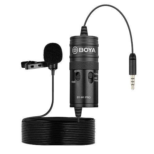 Micrófono corbatero omni direccional Boya BY-M1 Pro