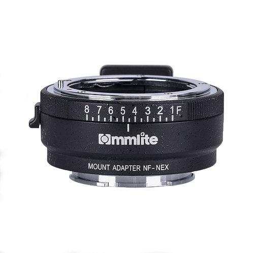 Adaptador Commlite CM-NF-NEX, lentes Nikon F en camaras Sony E