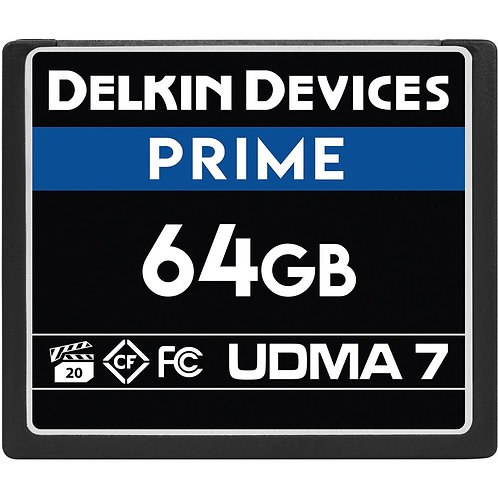 Memoria CompactFlash Delkin Devices 64 GB PRIME UDMA 7,  VPG 20, 1050x, 160 MB/s