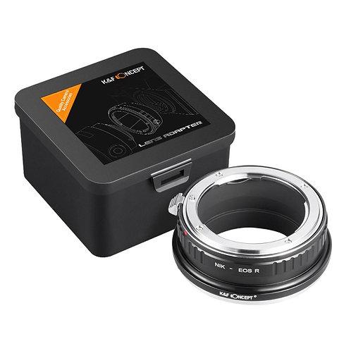 Adaptador manual K&F NIK-EOS R, lentes Nikon F en camara Canon EOS R