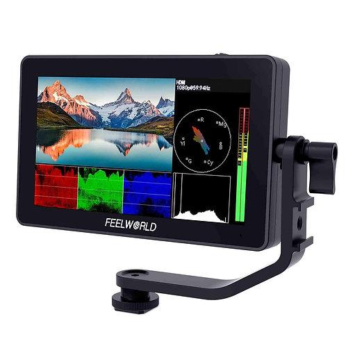 "Monitor FeelWorld F6 PRO, 5.5"", FULL HD, 4K HDMI, Pantalla Táctil"