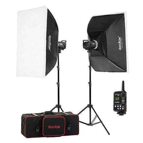 Kit Godox MS300-F, 2 flashes Godox MS300 de 300 watts