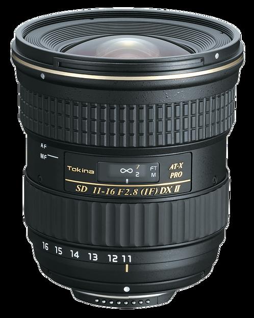 Lente Tokina AT-X 116 Pro DX II, 11-16mm f2.8 Autofocus para Nikon F, APS-C