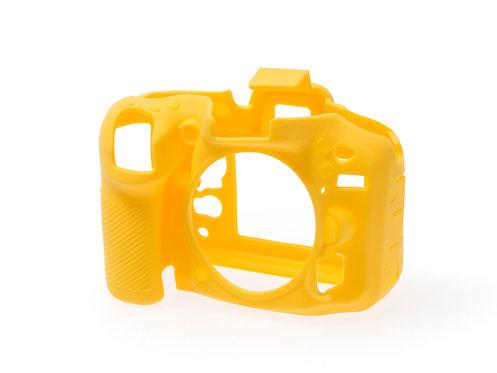 Carcasa easyCover Nikon D7100, D7200, Amarillo + Mica