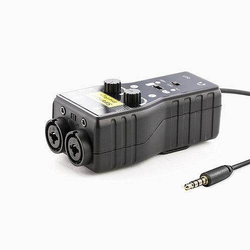Mezclador de 2 canales Saramonic SmartRig+con multiples entradas / salidas