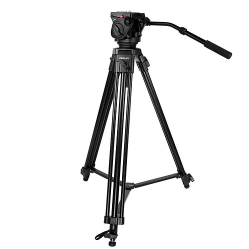 Tripode de video KingJoy VT-2100L+VT3530, 193cm, 15kg.