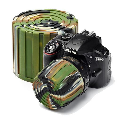 Tapa easyCover Lens Maze CAMUFLAJE, para diámetros de 52 a 77mm