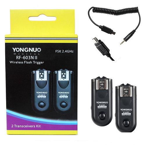 Kit disparadores triggers Yongnuo RF603NII N3