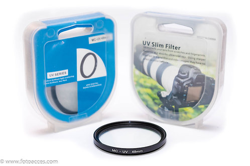 Filtro Ultravioleta Multicapa MC UV de 49mm.
