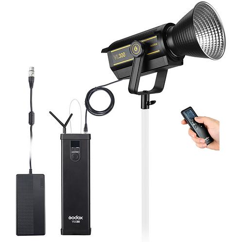 Luz Continua LED Godox VL300, de 300 watts, alimentación AC y por baterías