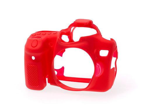 Carcasa easyCover Canon 70D, Rojo + Mica