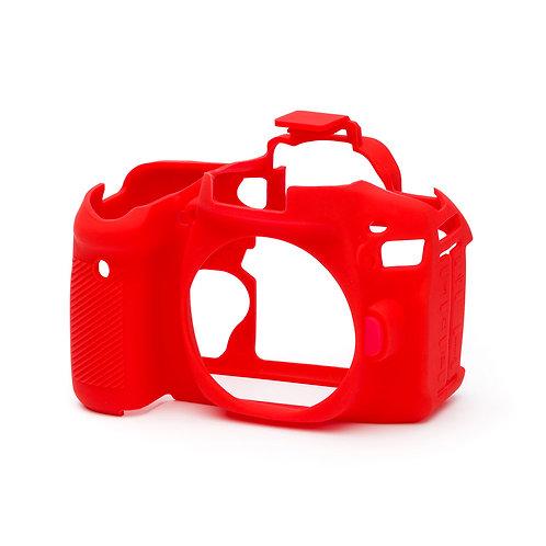 Carcasa easyCover Canon 80D, Rojo + Mica