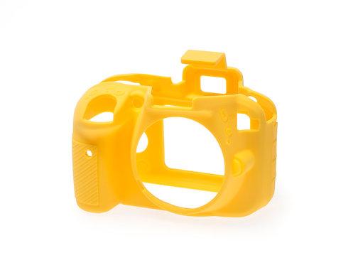 Carcasa easyCover Nikon D3300, D3400, Amarillo + Mica