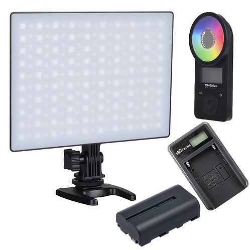 Luz LED Yongnuo YN300 Air II Bicolor + RGB +Bateria NP-F550 + Cargador